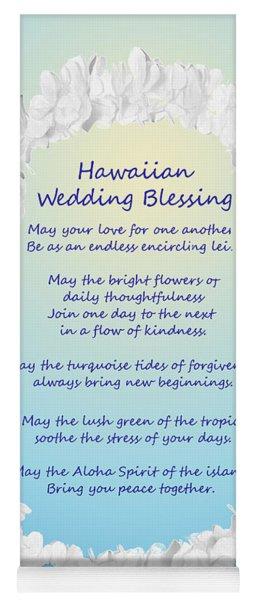 Hawaiian Wedding Blessing Yoga Mat