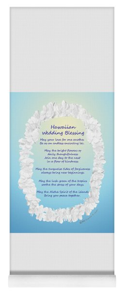 Hawaiian Wedding Blessing Yoga Mat