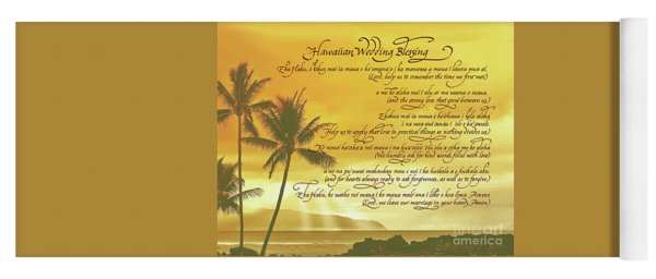 Hawaiian Wedding Blessing-sunset Yoga Mat