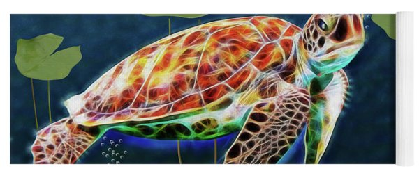 Hawksbill Sea Turtle Yoga Mat