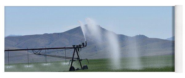 Hay Field Irrigation Yoga Mat