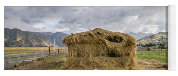 Hay Hut In Andes Yoga Mat