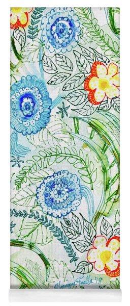 Yoga Mat featuring the painting Healing Garden by Monique Faella