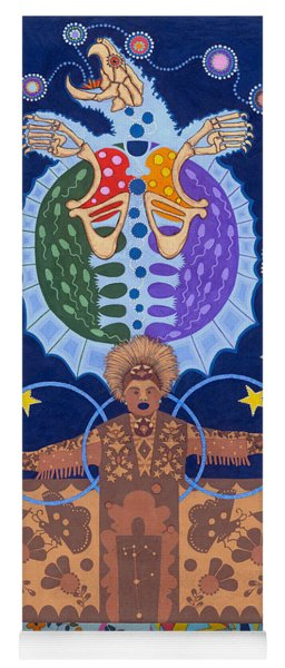 Yoga Mat featuring the painting Healing - Nanatawihowin by Chholing Taha