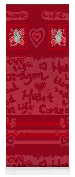 Heart Art Yoga Mat