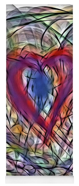Heart In Motion Abstract Yoga Mat