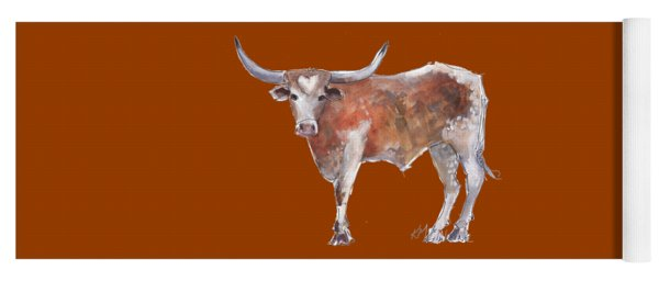 Heart Of Texas Longhorn Yoga Mat
