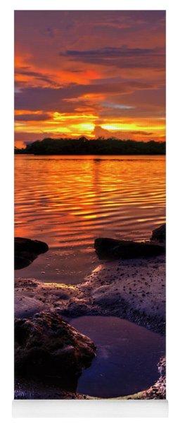 Heart Shaped Pool At Sunset Over Lake Worth Lagoon On Singer Island Florida Yoga Mat