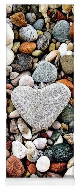 Heart-shaped Stone Yoga Mat