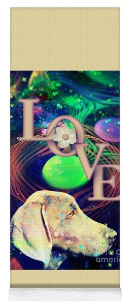Yoga Mat featuring the digital art Heavenly Love by Kathy Tarochione