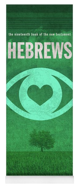 Hebrews Books Of The Bible Series New Testament Minimal Poster Art Number 19 Yoga Mat