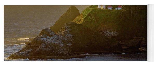 Heceta Head Lighthouse At Sunset Yoga Mat