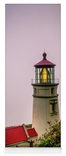 Heceta Head Lighthouse In The Fog Yoga Mat