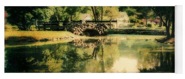 Heckscher Park Pond, Huntington Ny Yoga Mat