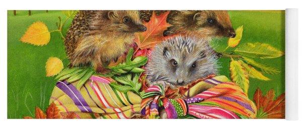 Hedgehogs Inside Scarf Yoga Mat