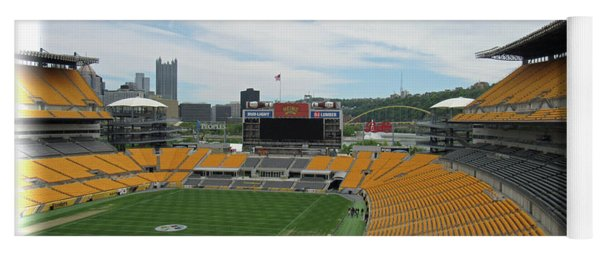 Heinz Stadium With Pittsburgh Skyline Yoga Mat