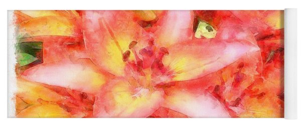 Helen's Lilies Watercolor  Yoga Mat