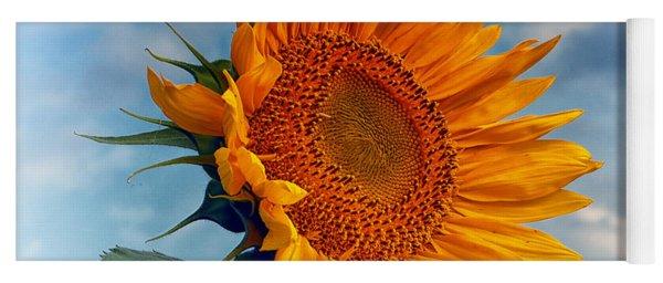 Helianthus Annuus Greeting The Sun Yoga Mat