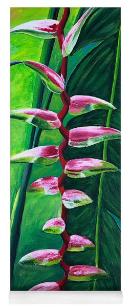 Heliconia Flower And Friend Yoga Mat