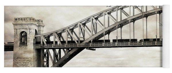 Hellgate Bridge In Sepia Yoga Mat