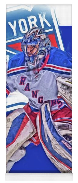Henrik Lundqvist New York Rangers Oil Art Yoga Mat