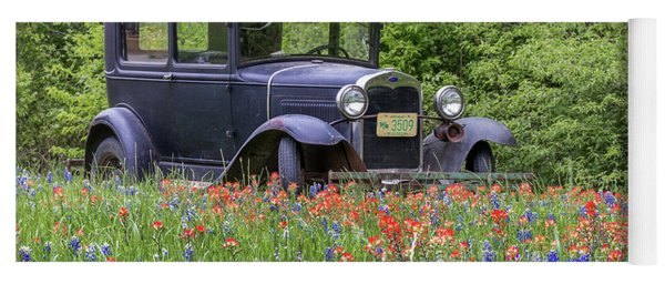 Yoga Mat featuring the photograph Henry The Vintage Model T Ford Automobile by Robert Bellomy