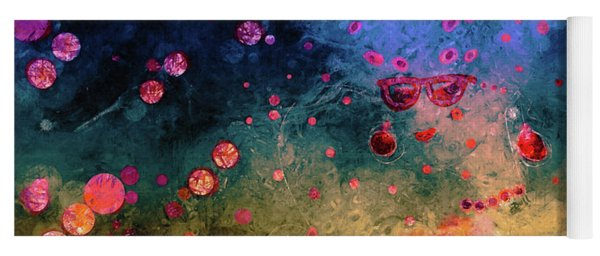 Yoga Mat featuring the painting Her Heart Shines Through by Claire Bull