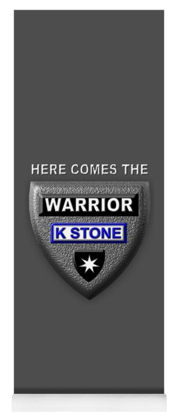 Here Comes The Warrior Yoga Mat