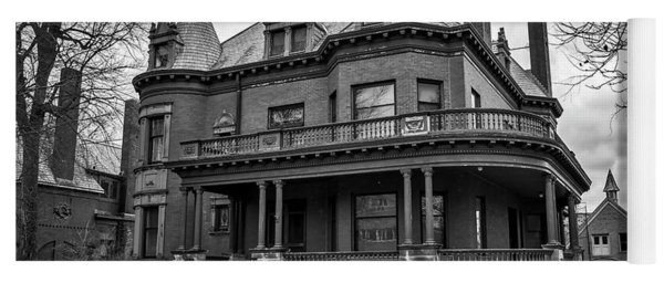 Heritage Hill Mansion In Black And White Yoga Mat