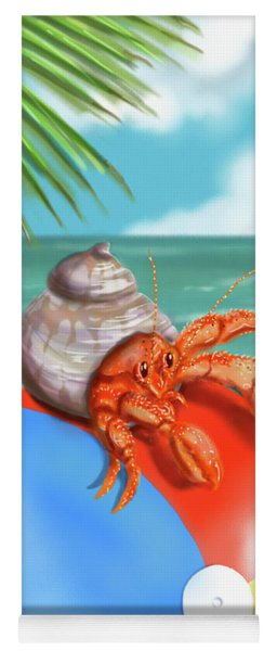 Hermit Crab On A Beachball Yoga Mat