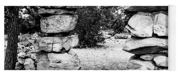 Hermit's Rest, Black And White Yoga Mat