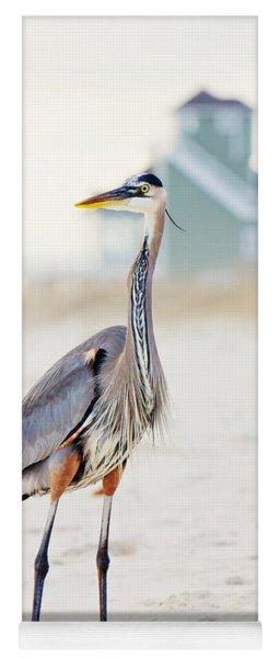 Heron And The Beach House Yoga Mat