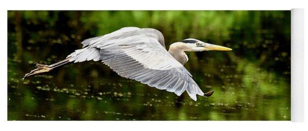 Heron In Flight Yoga Mat