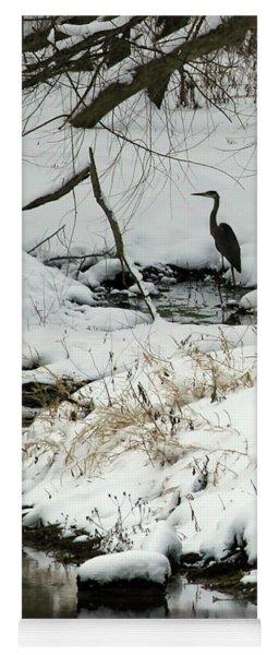 Heron In Winter Yoga Mat