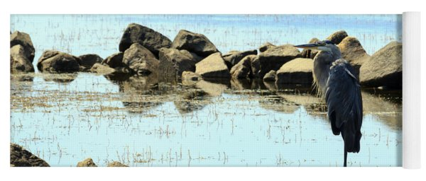 Heron On The Rocks Yoga Mat