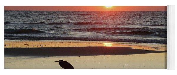 Heron Watching Sunrise Yoga Mat