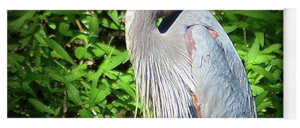 Blue Heron With An Attitude Yoga Mat