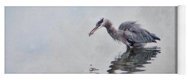 Heron Fishing  - Textured Yoga Mat