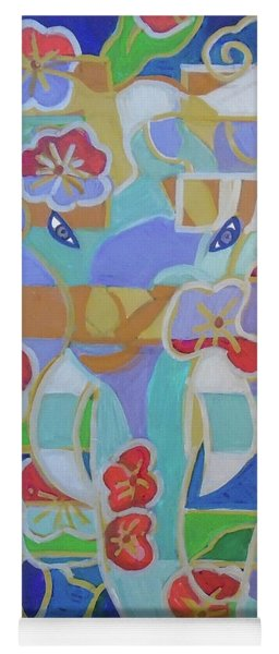 Yoga Mat featuring the painting Hexagram 16 - Yu - Enthusiasm by Denise Weaver Ross