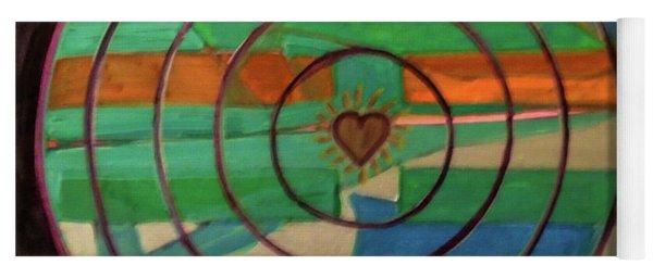 Yoga Mat featuring the painting Hexagram 41-sun-decrease by Denise Weaver Ross