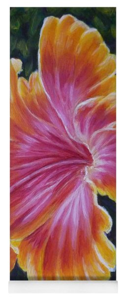Yoga Mat featuring the painting Hibiscus by Amelie Simmons