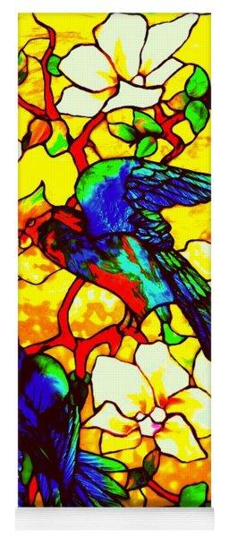 Hibiscus And Parrots Louis Comfort Tiffany Yoga Mat