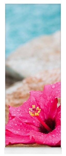 Hibiscus Flower Yoga Mat