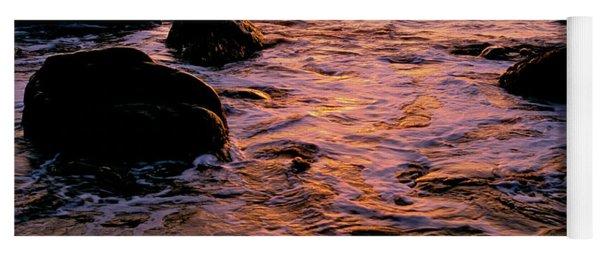 Hidden Cove Sunset Redwood National Park Yoga Mat
