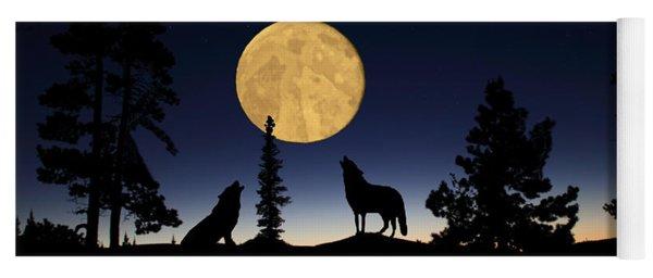 Hidden Wolves Yoga Mat