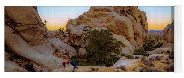 Yoga Mat featuring the photograph High Desert Pose by T Brian Jones