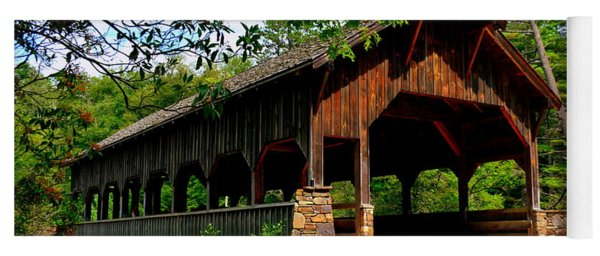 High Falls Covered Bridge Yoga Mat