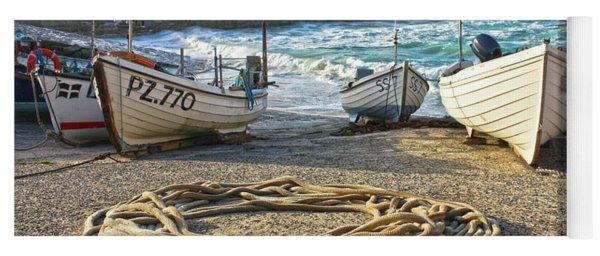 High Tide In Sennen Cove Cornwall Yoga Mat