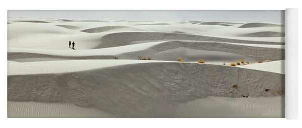 Hikers At White Sands Yoga Mat
