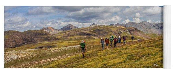 Hiking At 13,000 Feet Yoga Mat